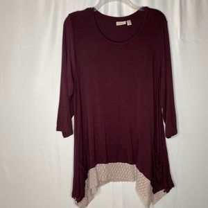LOGO By Lori Goldstein Tunic Top with pockets